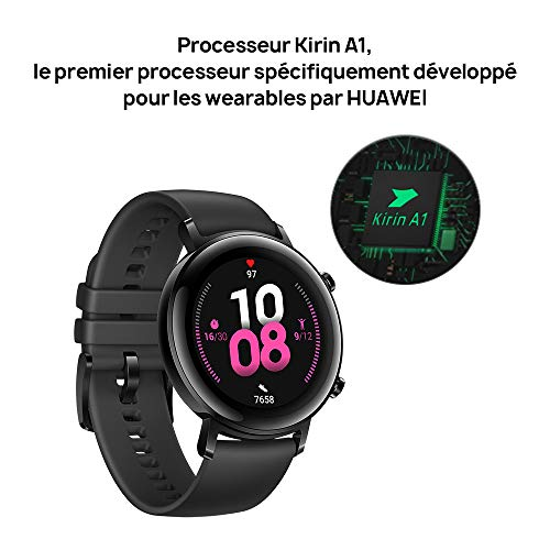 Huawei Watch GT 2 Montre Connectée (GPS, boîtier 42 mm) avec Bracelet Sport Noir