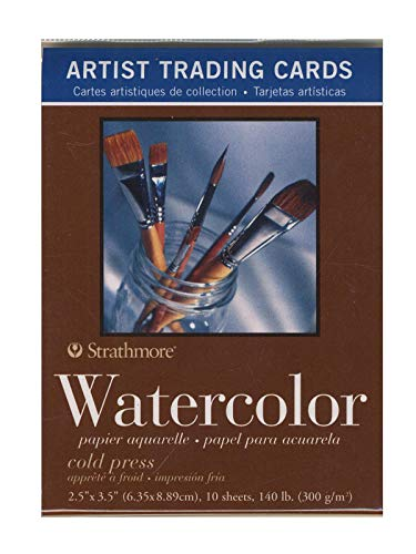 Strathmore Artist Trading Cards 400 Series Watercolor 10 Sheets/Pack [Pack of 6]