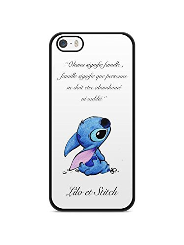 Cover per iPhone 7 Lilo Stitch Tortua Love Ohana Citazione Disney Case Swag REF11883
