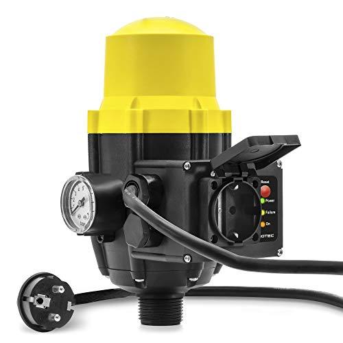 TROTEC Elektronischer Druckschalter TDP DSP Pumpensteuerung Druckwächter für Hauswasserwerk Gartenpumpen (max. 10 bar) mit Kabel und Steckdose
