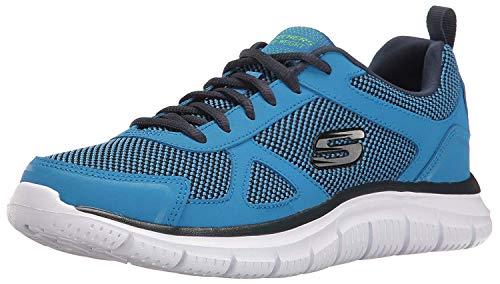 Skechers Herren-Sportschuhe Track Bucolo, Grn (Blau/Lime), 47 EU