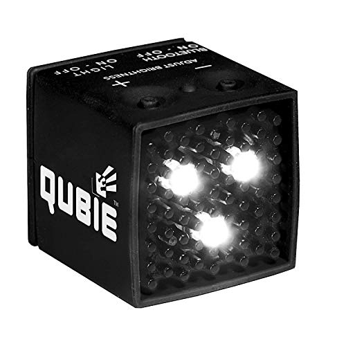 QUBIE  Bluetooth LED Light Black for photography and lighting