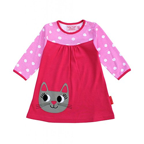Toby Tiger - Robe - Col Ras du Cou - Manches Longues - Fille Rosa 3/4 Ans