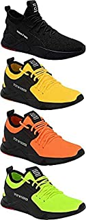 Shoefly Men's (9273-9326-9324-9323) Multicolor Casual Sports Running Shoes (Set of 4 Pair)
