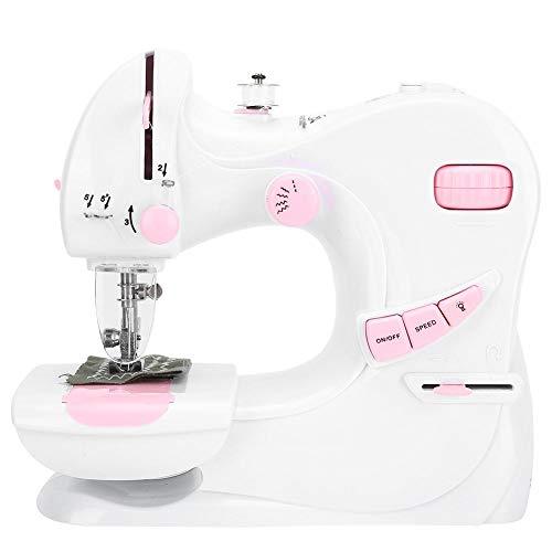 Huishoudelijke naaimachine Mini naaimachine Handheld draagbare elektrische naaimachines voor kinderen Childrens Beginners Embroidery Tool Crafts(EU)