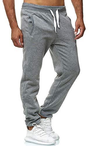 EGOMAXX Herren Jogging Hose Fit & Home Sweat Pants leichte Sporthose Vers.1, Farben:Dunkelgrau, Größe Hosen:M