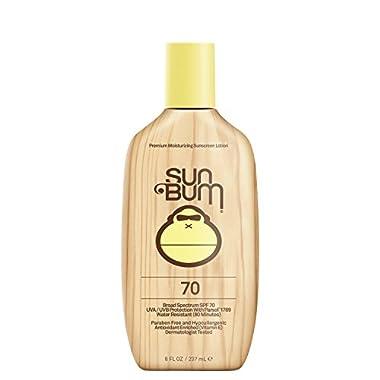 Sun Bum Original Moisturizing Sunscreen Lotion, SPF 70, 8 oz Bottle, 1 Count, Broad Spectrum UVA/UVB Protection, Hypoallergenic, Paraben Free, Gluten Free