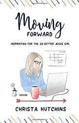 drawing of woman at computer, moving forward book cover