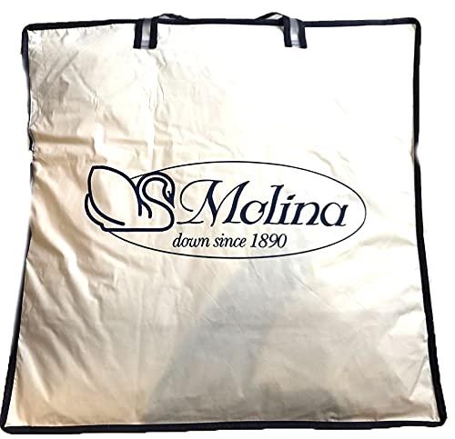 Molina Gilda Top - Edredón de plumón de ganso virgen siberiano de 4 puntos de calor, hipoalergénico, antiácaros, ultra blanco