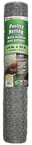 Yard Gard 308411B 24' x 50' 1' Mesh Hexagonal Poultry Netting