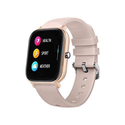 AOXING Reloj inteligente deportivo P9, pantalla táctil de 1,54 pulgadas con monitor de ritmo cardíaco, monitor de oxígeno en sangre, pasos de sueño, IP X7, impermeable, para iOS y Android (GD)
