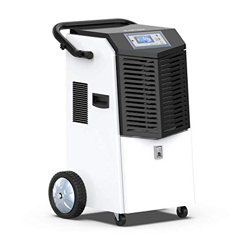 pool dehumidifiers COLZER 164 Pints Commercial Dehumidifiers with Continuous Drain Hose for Basements Warehouse Grow Room, Water Damage Restoration Dehumidifiers with 1.32 Gallon Water Reservoir - 20.5 Gallon/Day