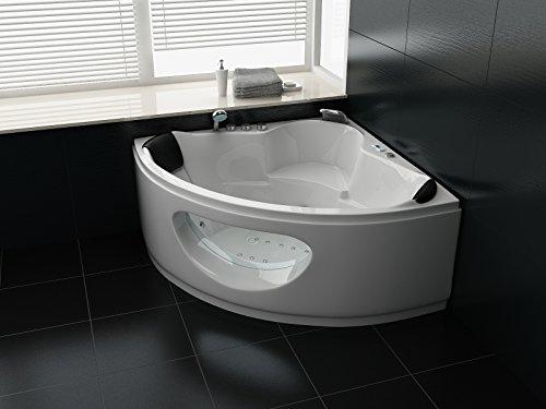 Luxus Whirlpool Badewanne 138x138 in Vollausstattung (Massage) - Sonderaktion