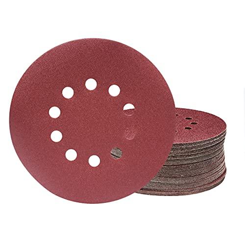 KONGMING Discos de lijado de 225 mm,25 piezas de discos de lijado redondos de 10 orificios de grano P180, para lijadoras de cuello largo, esmeriladoras de paneles de yeso y pulidoras de jirafas.