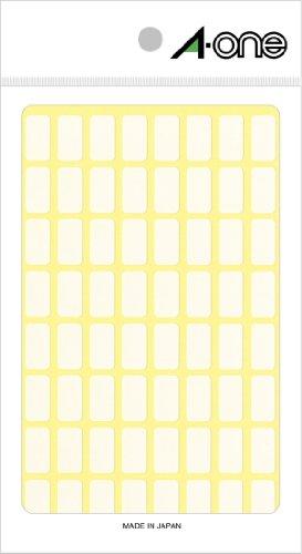 エーワン フリーラベル 整理 表示用 手書き用 上質紙 白 1片 8×15mm 1袋 15シート 960片 06001