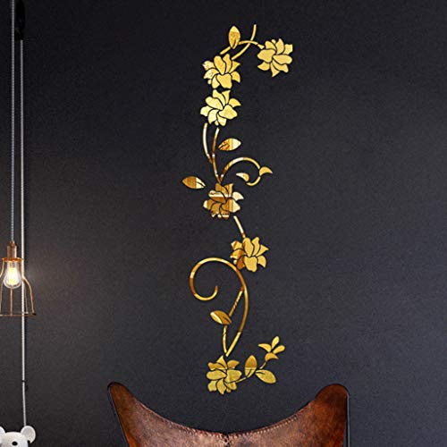 Yazidan 3D DIY Blume Form Acryl Wandaufkleber Moderne Aufkleber Dekoration Blumen-Acryldekoration Wandaufkleber