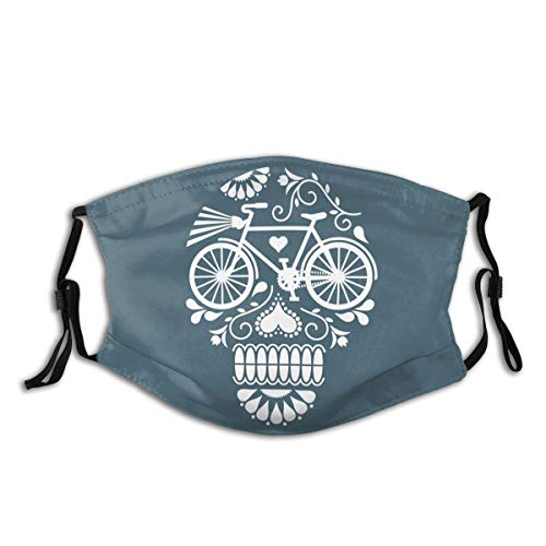 558 Crazy Cranium Bicycle Adjustable Funny Pattern Facial Decorations for Women and Men