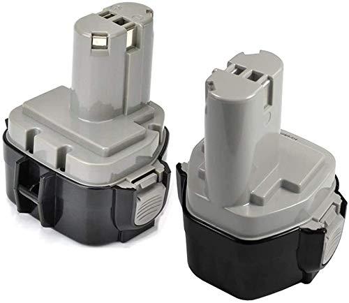 SHGEEN - Batería de repuesto para Makita PA12 1220 1222 1233S 1233SA 1233SB 1233 1234 1235 1235B 1235F 192696-2 192698-8 192698-A 193138-9 193157-5 6317D 6271D 6270D, color gris