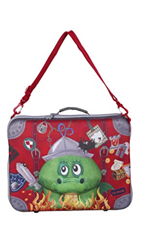 okiedog wildpack 80333 Valise pour Enfants en Aspect 3D Dragon, Rouge