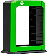 Numskull Official Xbox Premium Game Storage Tower Stand, Holder Stores 10 Games or Blu-Ray Disc Case...