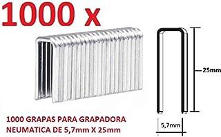 1000 GRAPAS DE 5,7mm X 25mm PARA GRAPADORA NEUMATICA