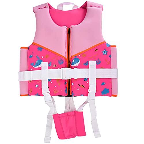 lunch box Traje De Flotabilidad para Niños Chaleco De Natación Niños Pequeños Niñas Ayuda De Natación Chaqueta De Aprendizaje Traje De Baño De Flotabilidad,Rosado,XS