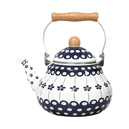 XF Bouilloire électrique Zfggd Théière Pot en Porcelaine Grand émaillé cuisinière à gaz Pot à café Ordinaire théière Maison, 2 Tailles Peuvent être polies à la Main (Size : 2L)