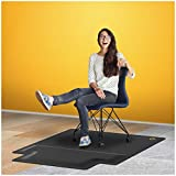 Office Chair Mat with Anti Fatigue Cushioned Foam - Chair Mat for Hardwood Floor with Foot Rest...