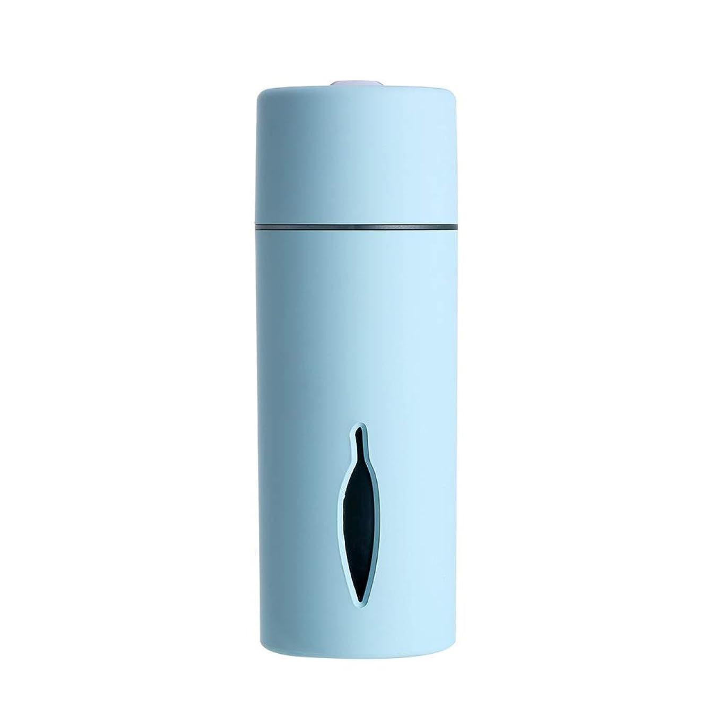 病気古風な旅行代理店ZXF クリエイティブ新しいカラフルな夜の光の葉加湿器usb車のミニホームスプレー楽器水道メーターブルーセクションピンク 滑らかである (色 : Blue)