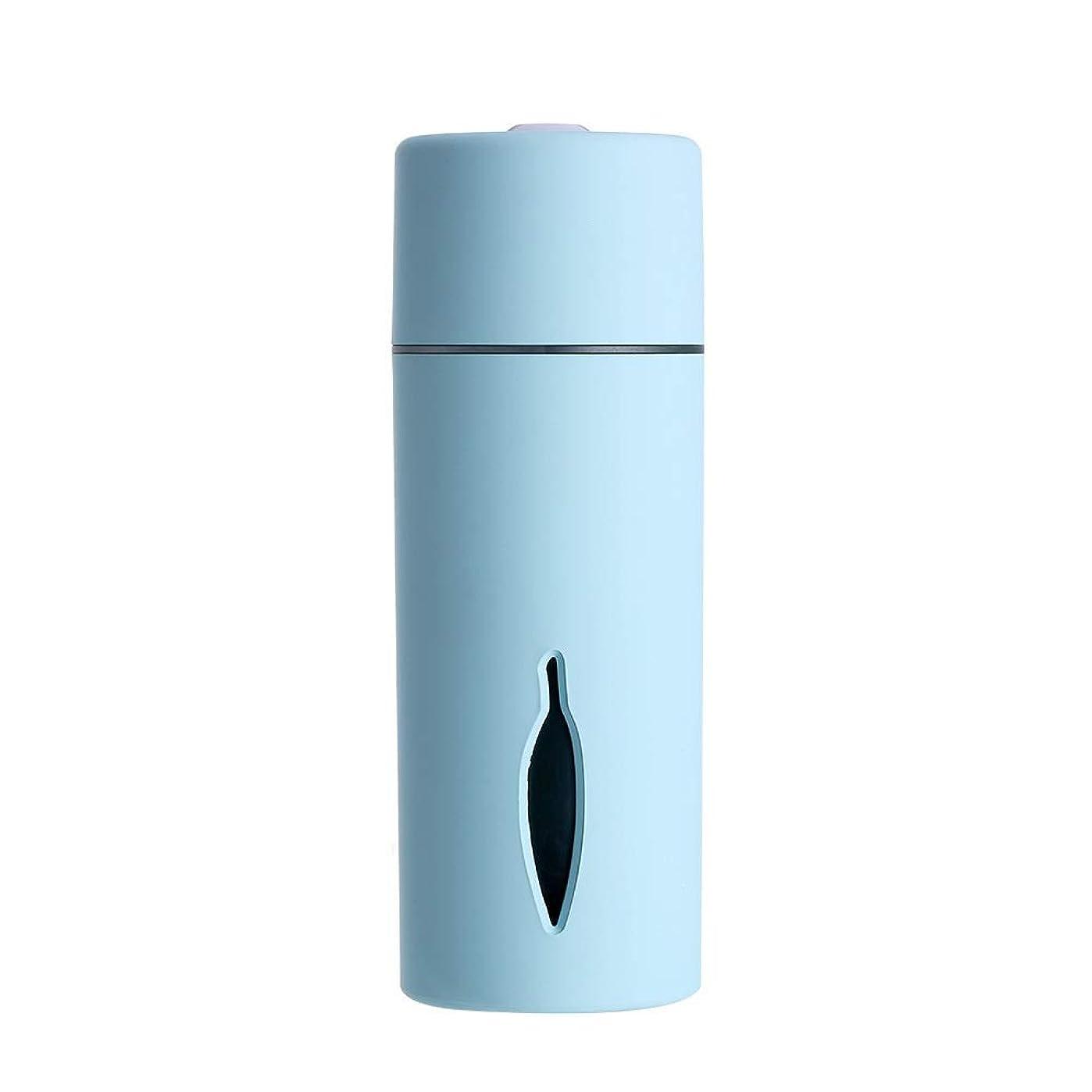 お香フルーツ特異なZXF クリエイティブ新しいカラフルな夜の光の葉加湿器usb車のミニホームスプレー楽器水道メーターブルーセクションピンク 滑らかである (色 : Blue)