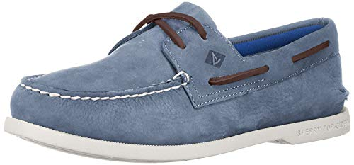Sperry Top-Sider womens A/O 2-eye Plush Washable Boating Shoes, Blue, 10.5 US
