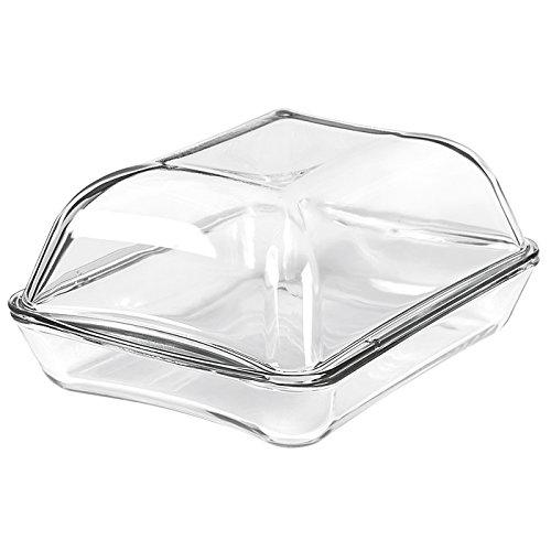Simax A Heat-Resistant Vessel with a 8.6 Liter Lid Fuente rectangular de 3,5 litros + tapa de 5,1 litros, Vidrio, Transparente