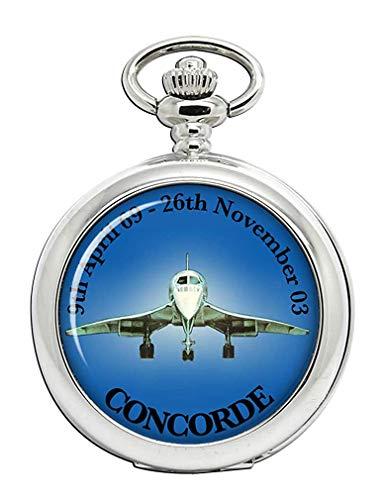 Concorde Supersonic Jet Reloj Bolsillo Hunter Completo