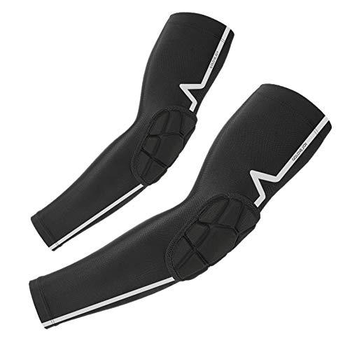 Tofern Manchette Couvre-Bras Manchon de Compression Coudière Protection UV Respirant Séchage Rapide Léger Polyester pour Vélo Course à Pied Basketball