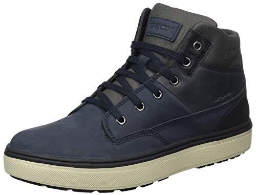 Geox J Mattias B Boy ABX, Chukka Boot, Blue (Navy/Dark Grey), 30 EU