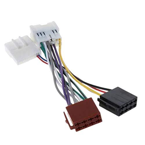 Baoblaze Connecteur Adaptateur de Faisceau Iso Adaptateur de Fiche Stéréo ISO pour 2012 / Dacia 2011+