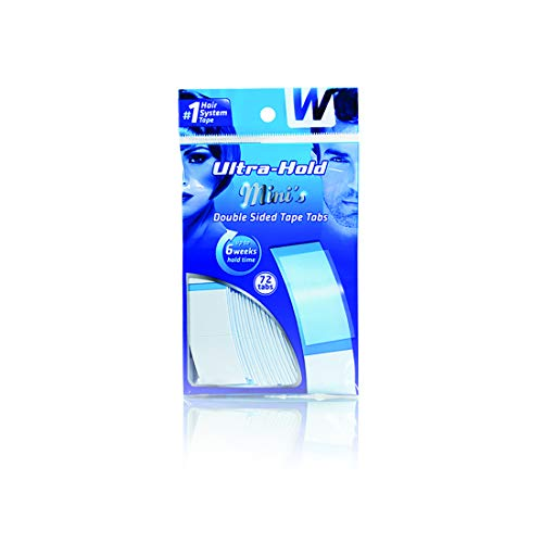 Ultra Hold Mini Tabs - Durable Double Sided Hair Wig Tape - Long Lasting Water & Heat Resistant - 72 Tabs per Pack