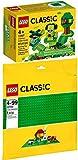 LEGO Classic Juego de 2 placas base verde 10700 11007 + juego creativo verde