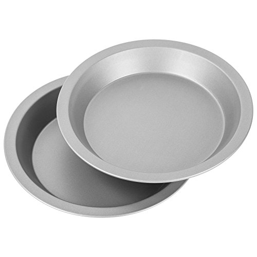 "G & S Metal Products Company OvenStuff Nonstick 9"" Pie Pans, Set of 2, Gray"