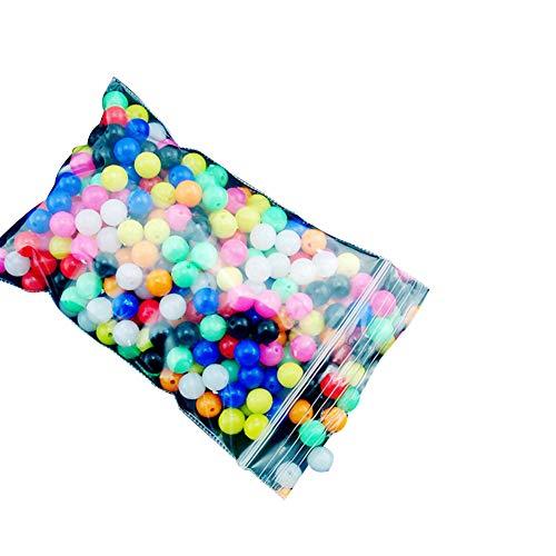 tyrrdtrd 100 unidades de cuentas redondas multicolor para pesca al aire libre, señuelos flotadores de pesca en el mar, tamaño 6 mm/8 mm