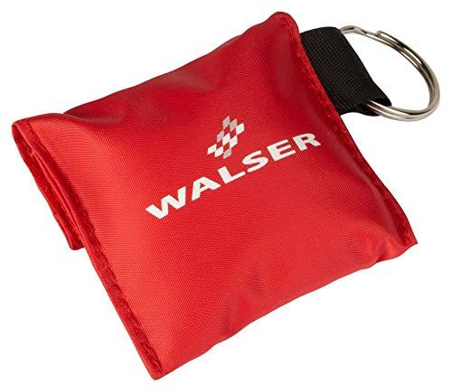 Walser Schlüsselring mit Beatmungshilfe und Einmalhandschuhe rot - Beatmungsbehelf Erste Hilfe Set 44277