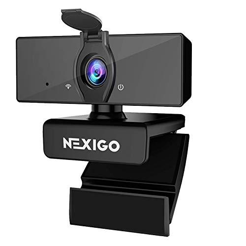 1080P Business Webcam with Software, Dual Microphone & Privacy Cover, NexiGo N660 USB FHD Web Computer Camera, Plug and Play, for Zoom/Skype/Teams/Webex, Laptop MAC PC Desktop
