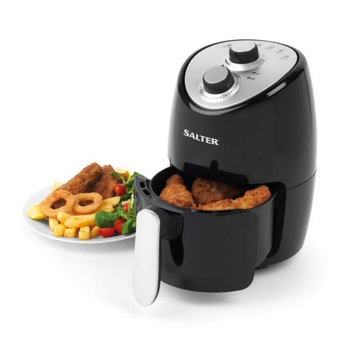 Salter EK2817 Compact Hot Air Fryer with Removable Frying Rack, 2 L, 1000...