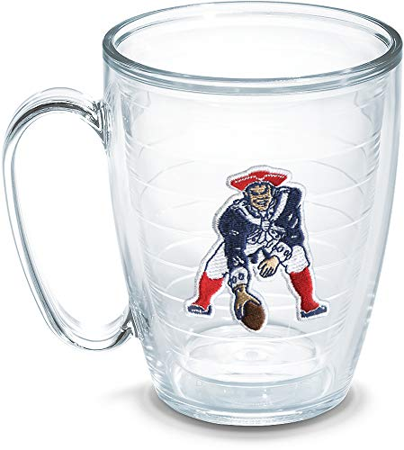 Tervis Made in USA Double Walled NFL New England Patriots Insulated Tumbler Cup Keeps Drinks Cold & Hot, 16oz Mug - No Lid, Legacy