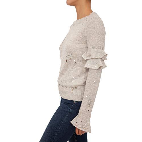 PATRIZIA PEPE - Jersey para Mujer, Color Blanco, Talla 34