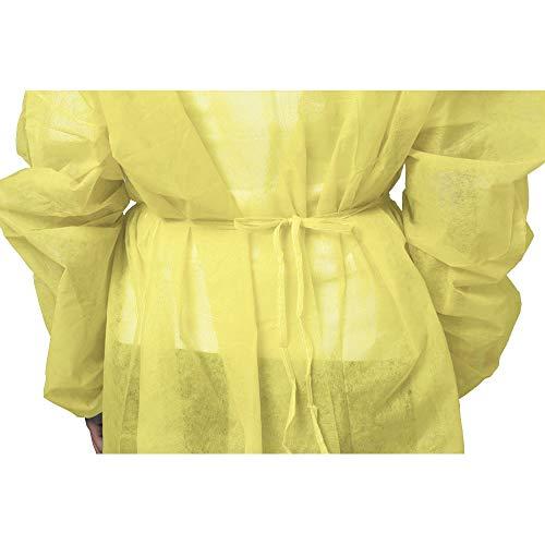 『100枚入り イエロー 使い捨て防の護の服 フリーサイズ 男女兼用』の2枚目の画像