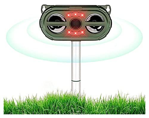 WSED Gato Repelente jardín Gato Repelente ultrasónico 5 Modos Sensor infrarrojo Gato disuasión Zorro disuasión Ardilla Repelente Solar energía para jardín