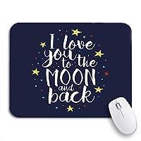 NINEHASA 可愛いマウスパッド 私はあなたを月に愛して、ノートパソコン、マウスマットのためのロマンチックな滑り止めゴムバッキングマウスパッド