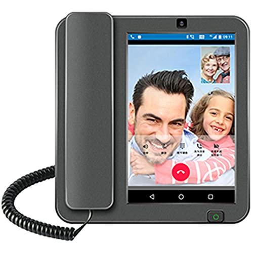 Teléfono Fijo, Tarjeta SIM 4G Android Smart Phone Smart Pantalla Táctil Teléfono De Video Llamada con Grabación WiFi para Teléfonos Inalámbricos De Negocios,4g