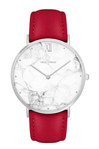 New Trend - Love for Accessories Damen Uhr analog Quarzwerk mit Kunst-Leder-Armband nt_07_01_parent9_000675